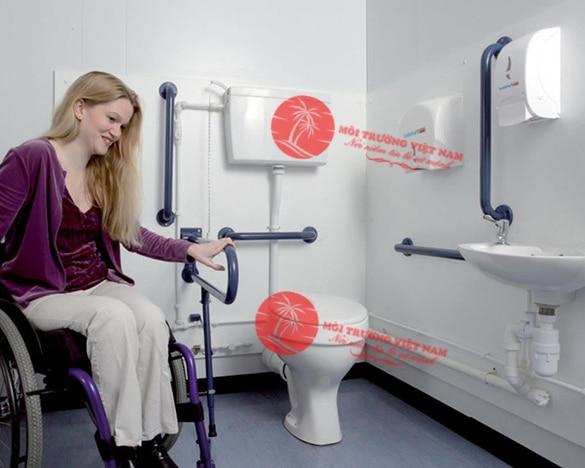 Kích thước nhà vệ sinh cho người khuyết tật