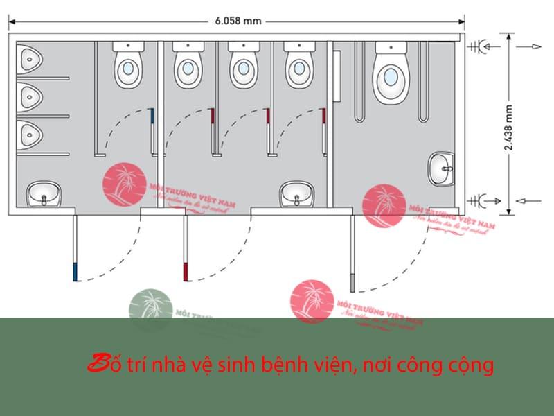 Kích thước tối thiểu của nhà vệ sinh là bao nhiêu?