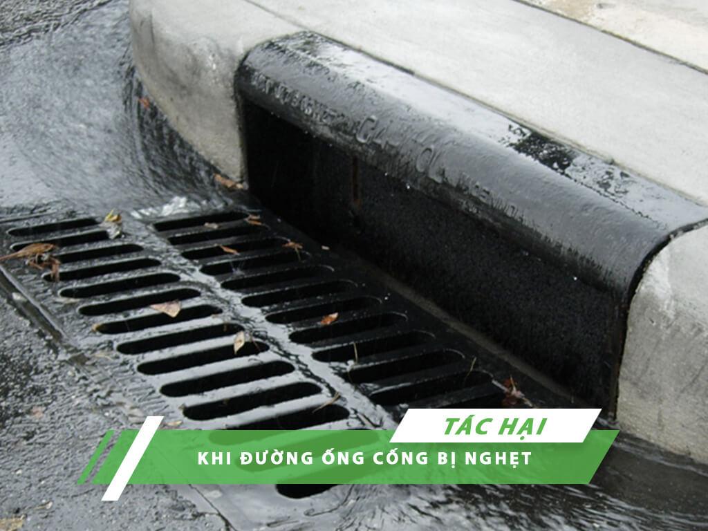 tác hại khi đường cống bị nghẹt
